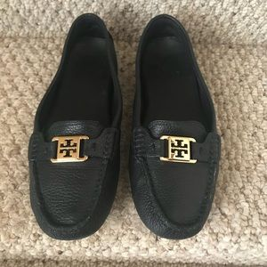 Tory Burch Driver Loafers black leather size 9.5